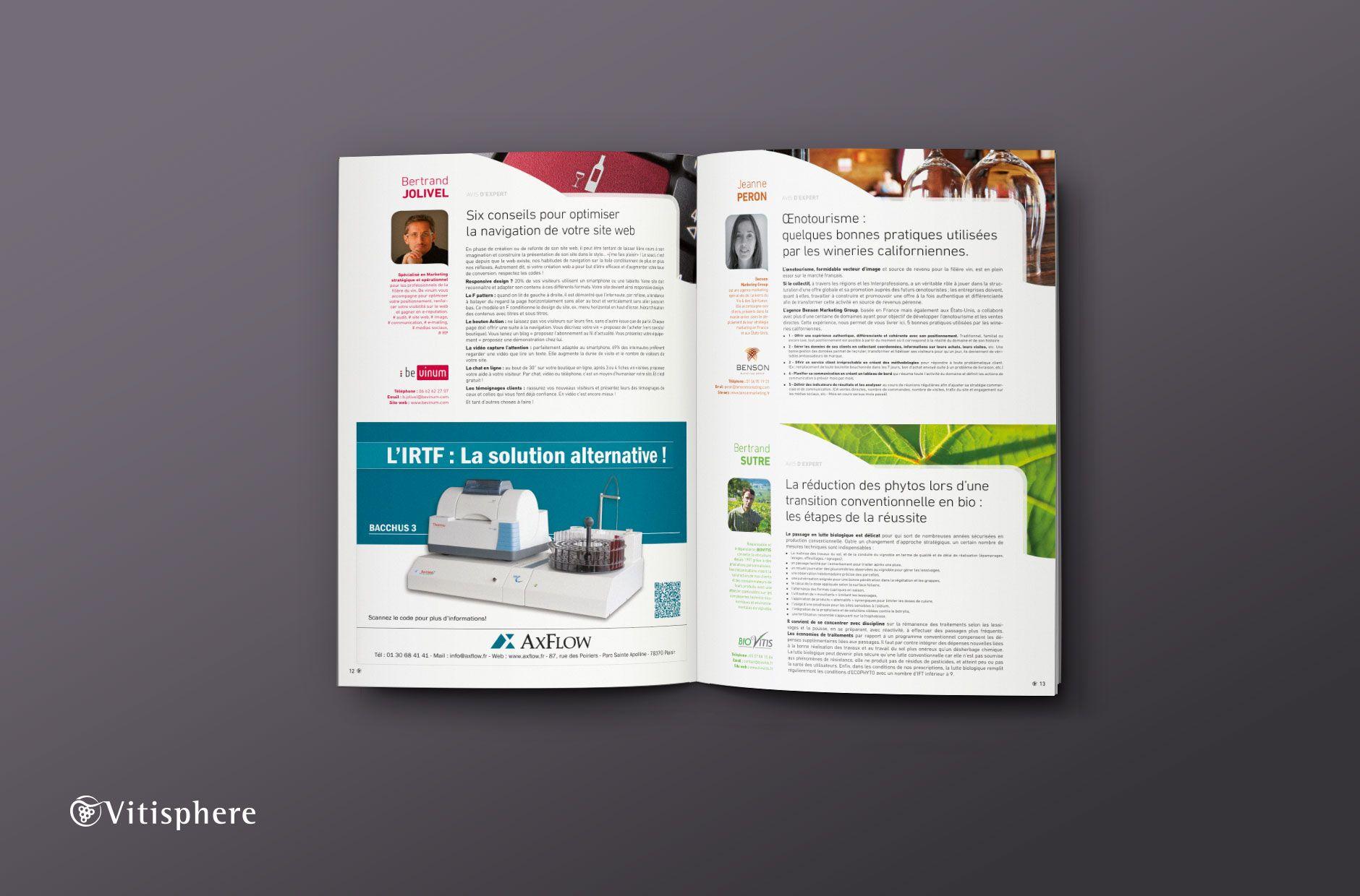 Brochure Viticole Vitivinicole Vitisphere Double Page Agence De Communication Bonnes Pratiques Et Agence Web