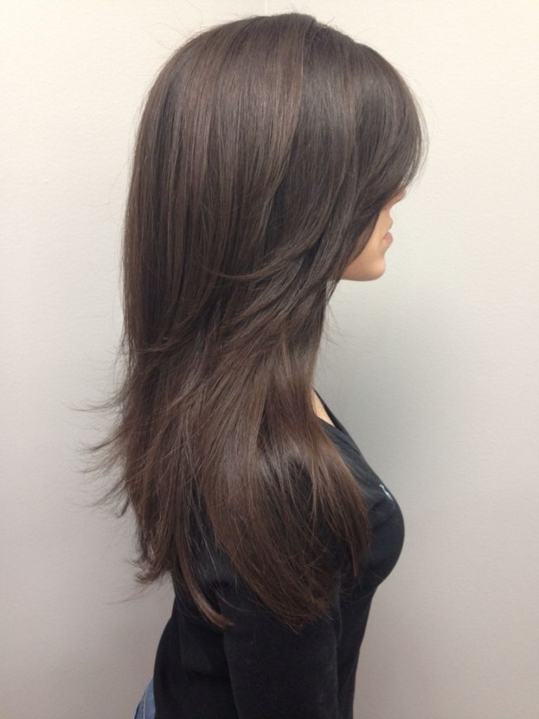 Long V Cut Layered Hairstyles Long Layered V Cut Haircuts