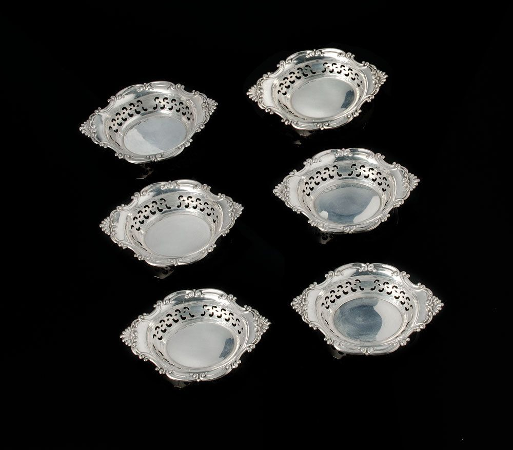 Set of 6 Gorham sterling nut dishes Cromwell pattern 4780 by SearchEndsHere on Etsy