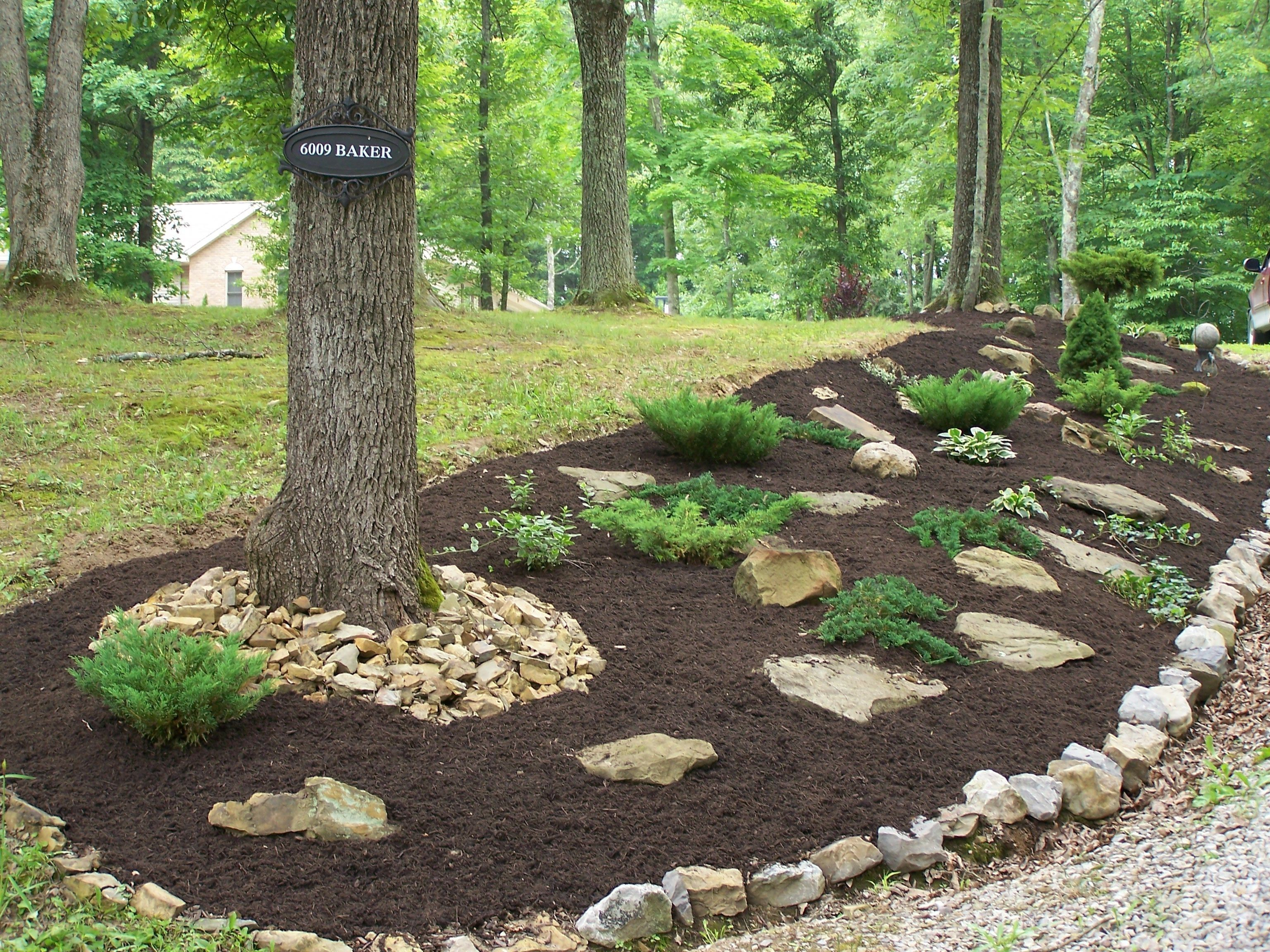hillside landscaping ideas on a budget on front yard ... on Small Sloped Backyard Ideas On A Budget id=11702
