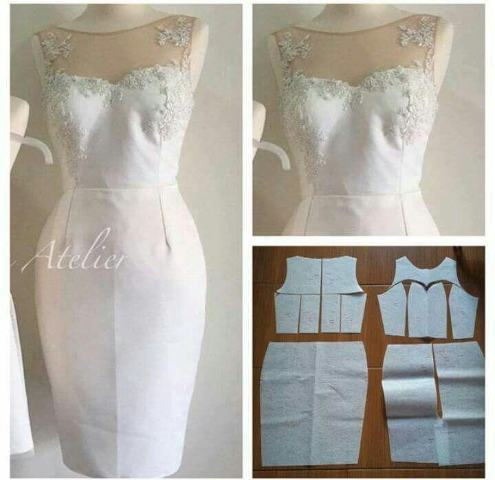 Resultado de imagen para patrones vestidos de fiesta | moldes ...