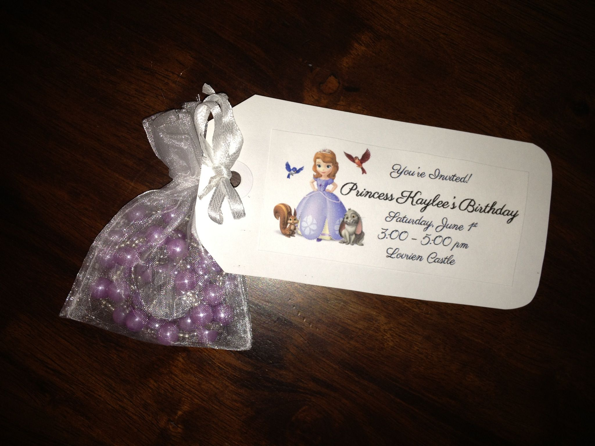 Sofia The First princess party invitation. Each invitee gets their ...
