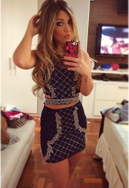 Girl Mini Skirts Loiras Fashion Instagram Fake Fotos Dresses