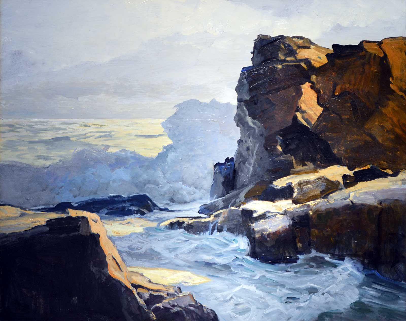 Frederick Judd Waugh Rocky Coastline Coastal Painting Seascape Paintings Ocean Painting