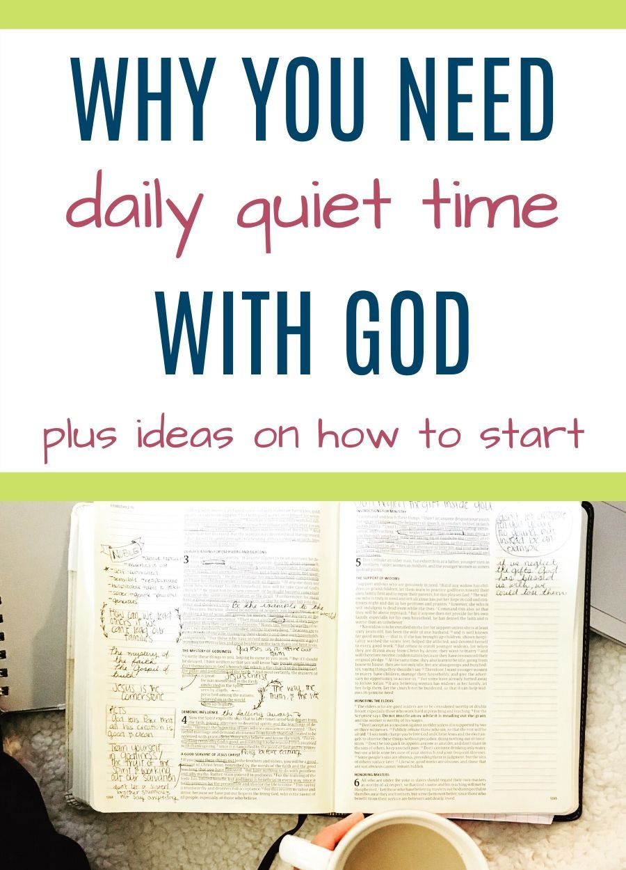 Why you need a daily quiet time with God plus ideas on how to start #routine
