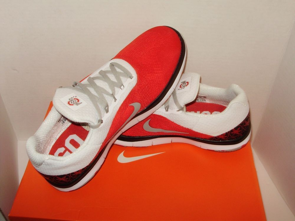 8be678520f829 Nike Ohio State Free Trainer V7 Week Zero Mens Shoe 9 Red Pewter AA0881 605  A72  Nike  OhioStateBuckeyes
