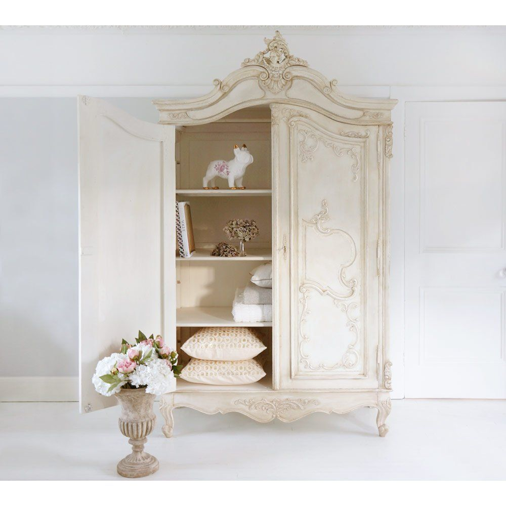 delphine distressed shabby chic armoire  french armoire