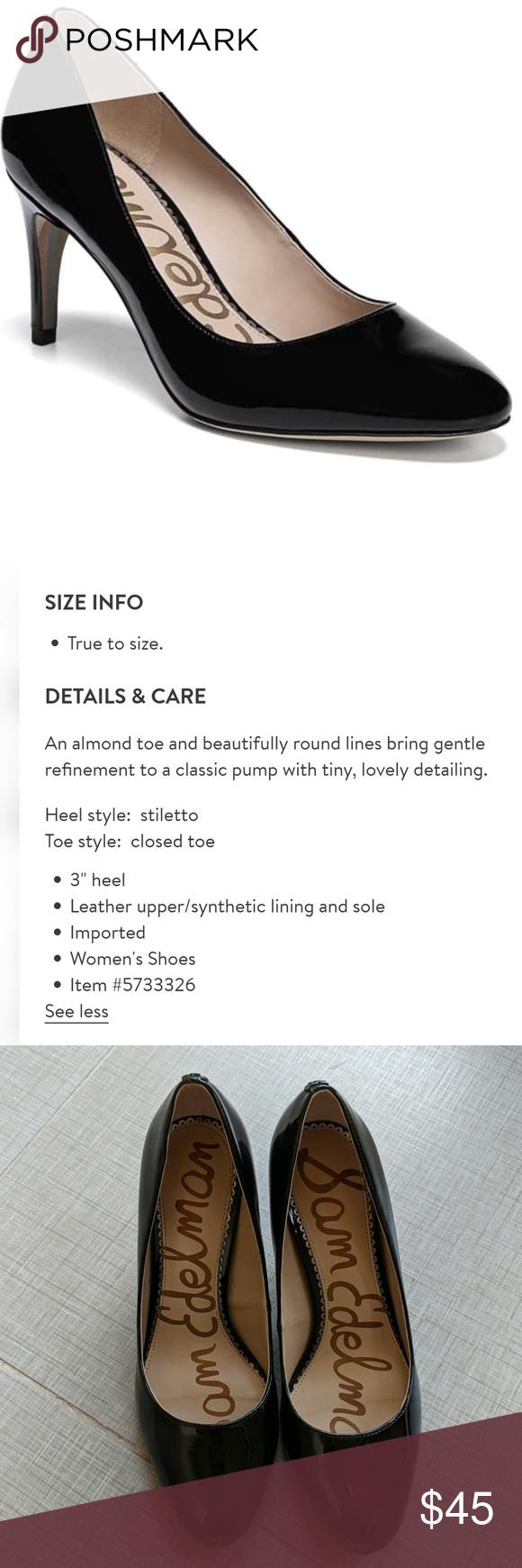 06b55fb0b Sam Edelman  Elise  Pumps Sam Edelman  Elise  Pumps in black patent  leather. Great overall condition