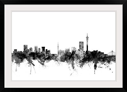 Amazon com johannesburg south africa skyline photographic print with black frame posters