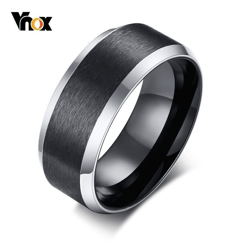 Tungsten Carbide Ring Rose Gold Black Brushed Men S Wedding Band Ring Jewelry Free Shippi Mens Wedding Rings Black Mens Wedding Rings Rings Mens Wedding Bands