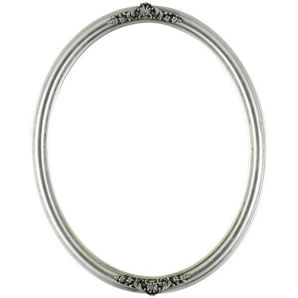 Contessa Oval Frame #554 Silver Leaf with Black Antique ❤ liked on ...