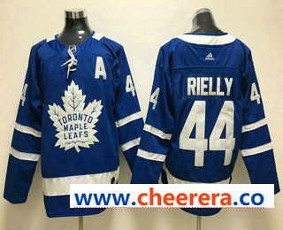 2ecca28d8 Men s Toronto Maple Leafs  44 Morgan Rielly Royal Blue Home 2017-2018 Hockey  Stitched NHL Jersey