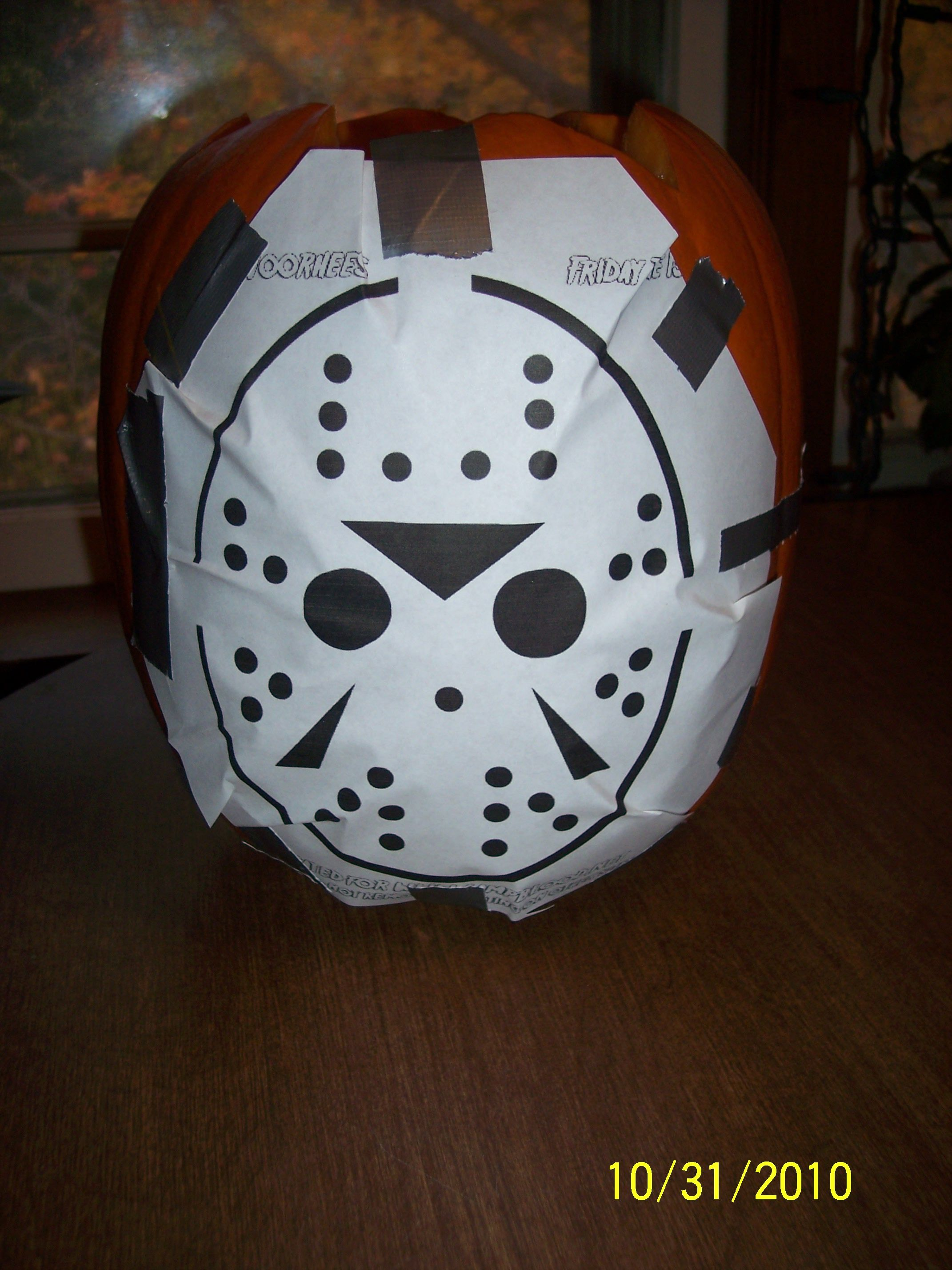 Jason Voorhees Pumpkin Pattern & Carving | Fashion Passion ...
