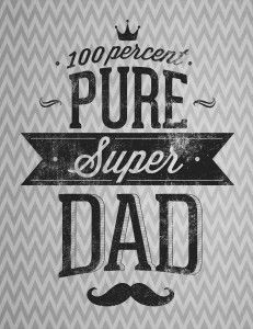 Frame this trendy chevron patterned free printable poster for a nice father's day surprise. Prints on 8.5×11 paper with enough border to fit into a standard 8×10 frame. Enjoy!
