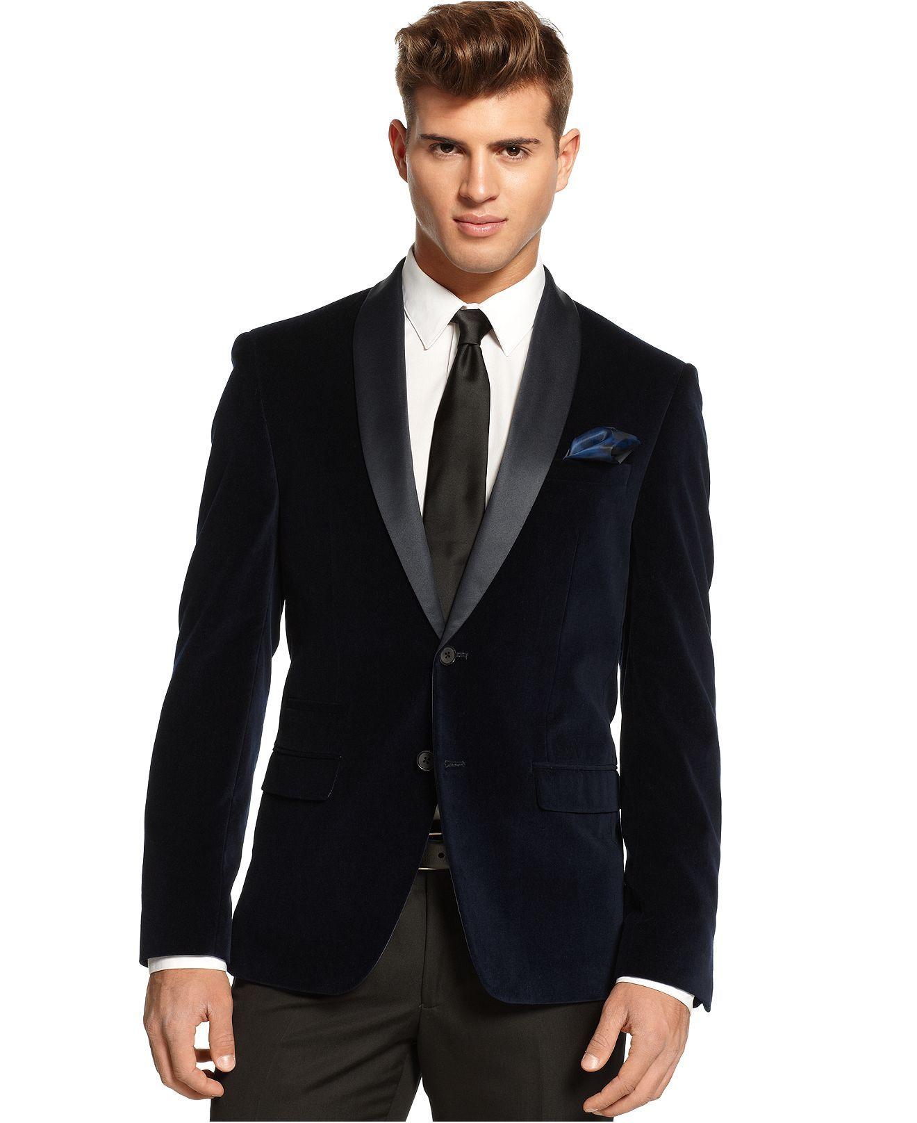 M151 Jacket, Satin Lapel Suede Blazer - Blazers & Sport Coats ...