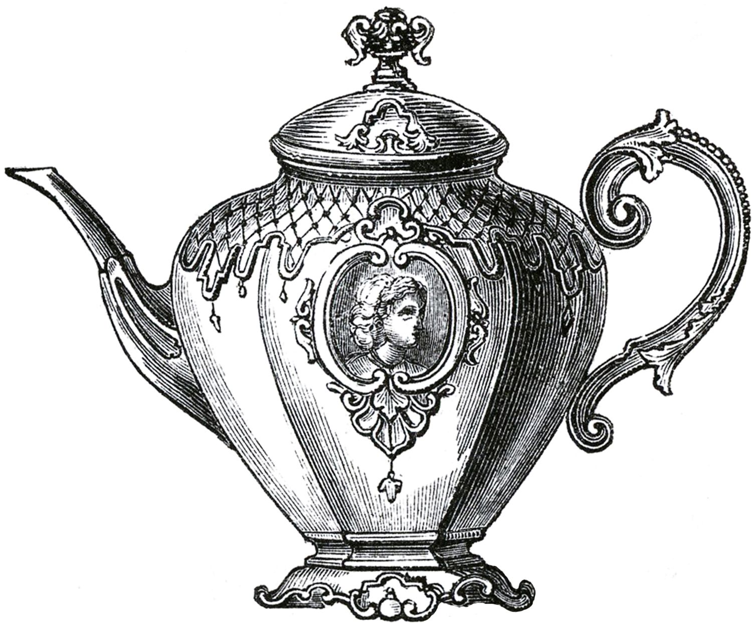 Vintage Tea Kettle Drawing 1000+ images about teapot drawings on ...