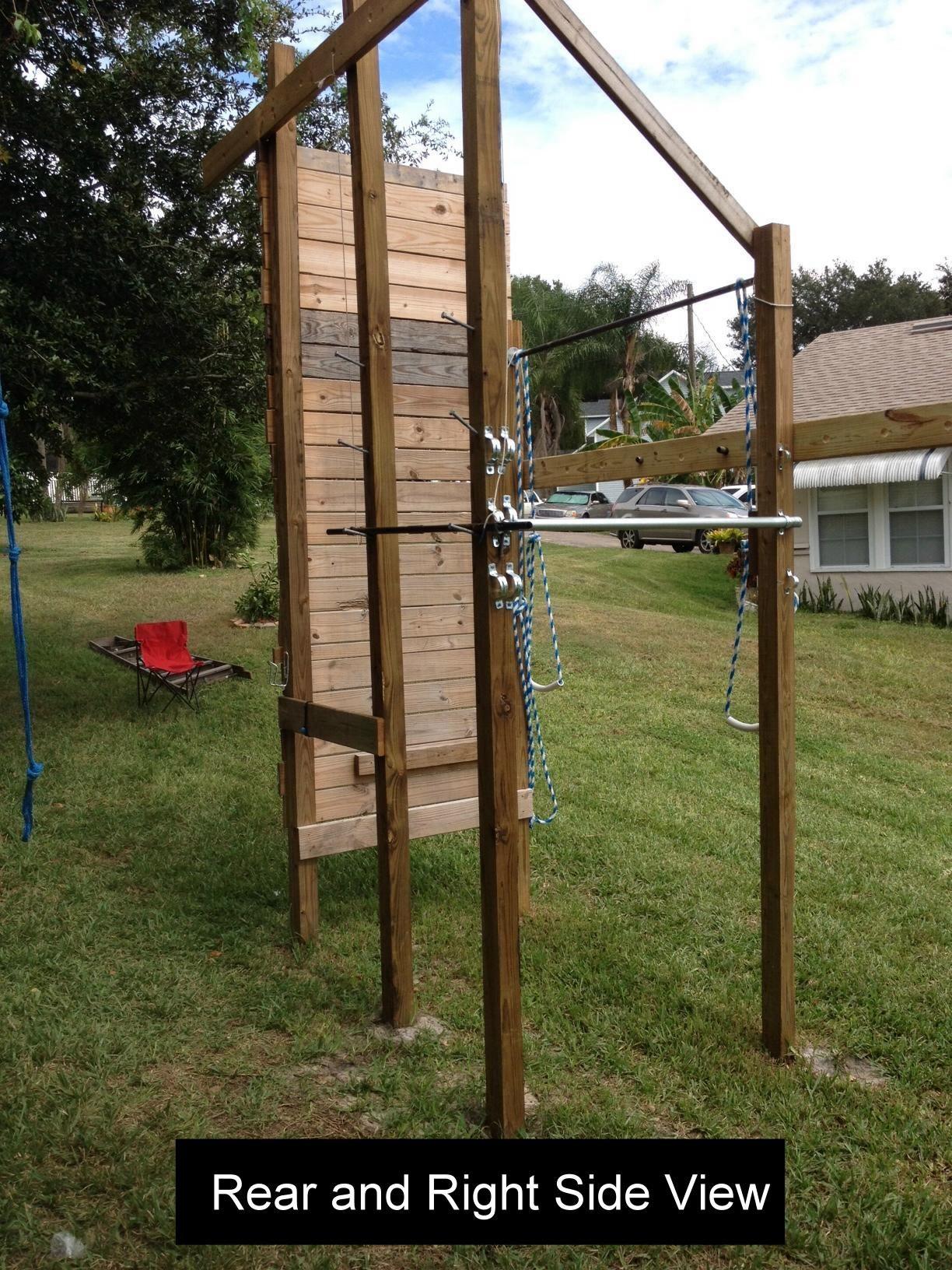 Ninja Warrior Training Station Ninja Warrior Ninja Warrior Course Backyard Obstacle Course Diy backyard ninja warrior course