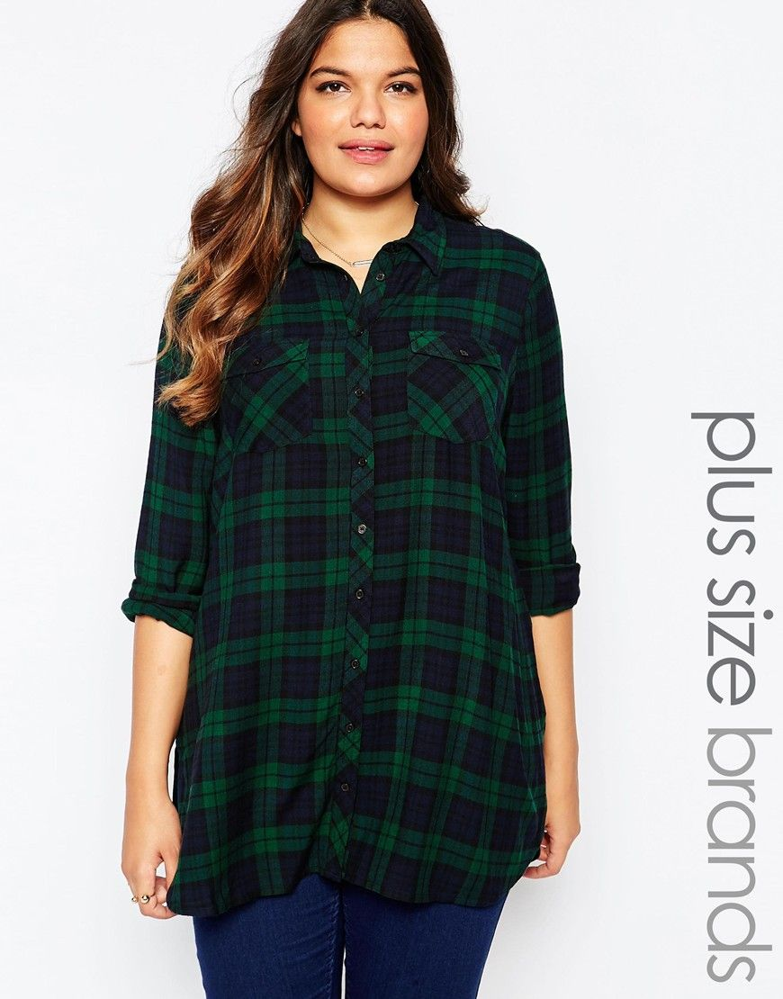 686dde239ce New Look Curve Check Shirt | Chic and Timeless Fashion (Plus Size ...
