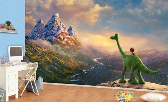 The Good Dinosaur Wall Mural Vinyl Wallpaper Décor Nursery And Room Art