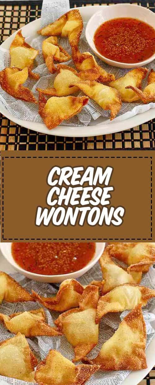 Cream Cheese Wontons Recipe in 2020 Football food