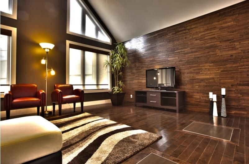 Contemporary Wood Wall Panels 3-dimensional wood wall panels, give a a contemporary feel, warmth