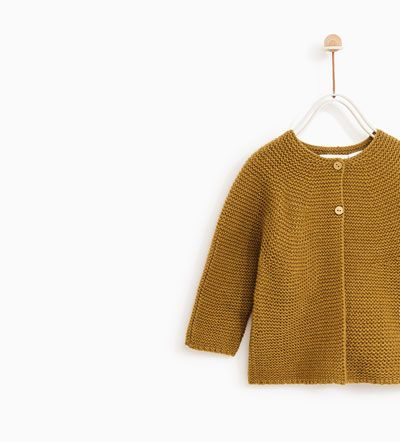 02ae0f3bd BASIC KNIT CARDIGAN-SWEATERS AND CARDIGANS-BABY GIRL