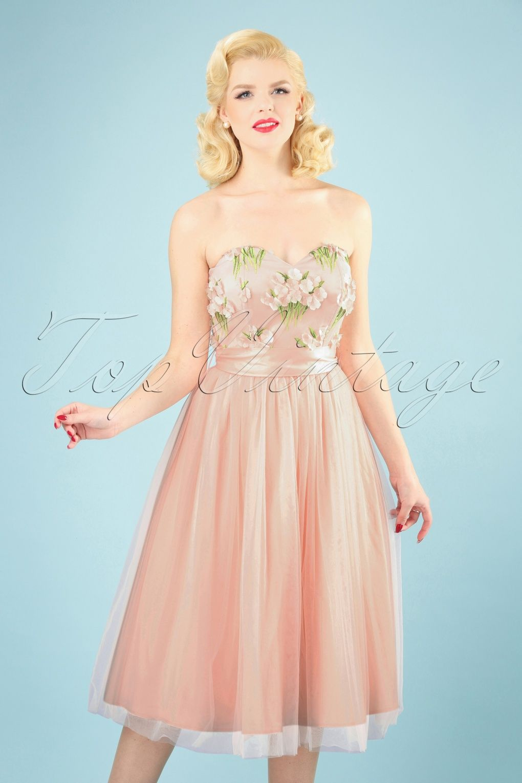 034f114490adf5 50s Jade Summer Flamingo Swing Dress in Pink in 2019