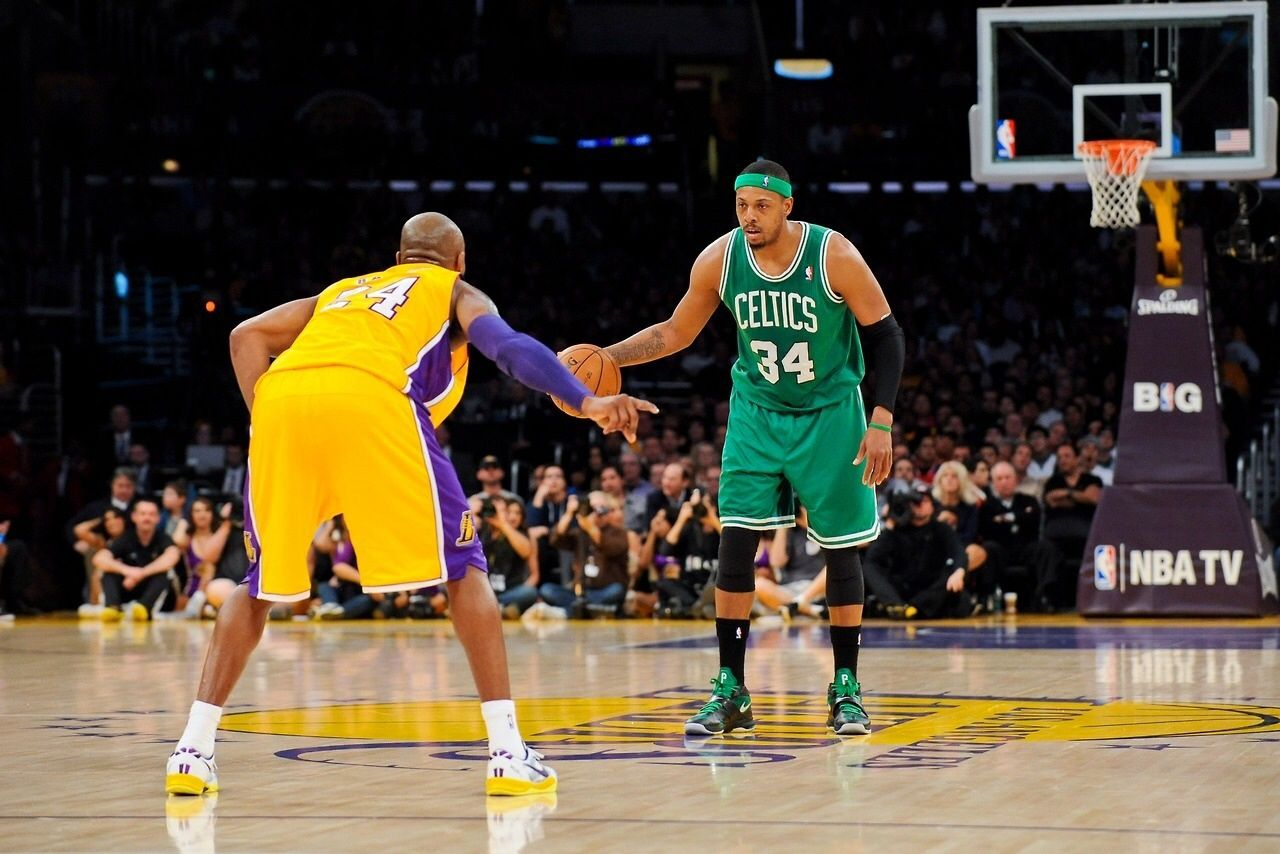 Pierce vs. Kobe Nba tv, Sports fanatics, Boston celtics