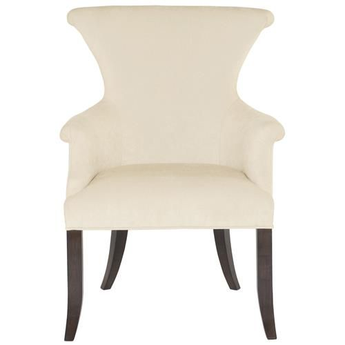 Crawford Modern Classic Ring Pull Ivory Armchair Dining Room Arm
