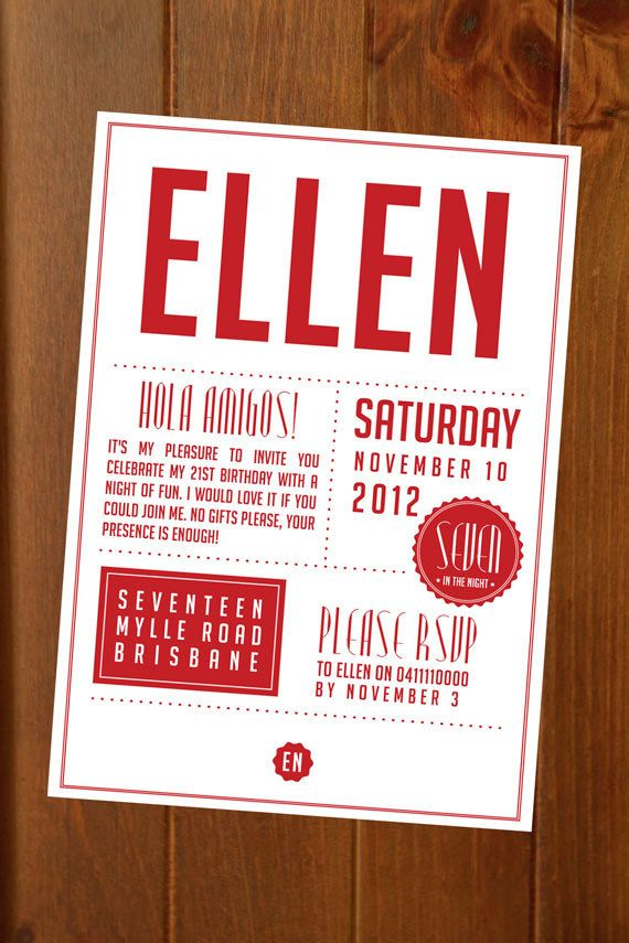 Modern Seal Invitation  Custom Printable Event Invitation