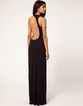 aqua starbright asymmetric open back maxi dress my style