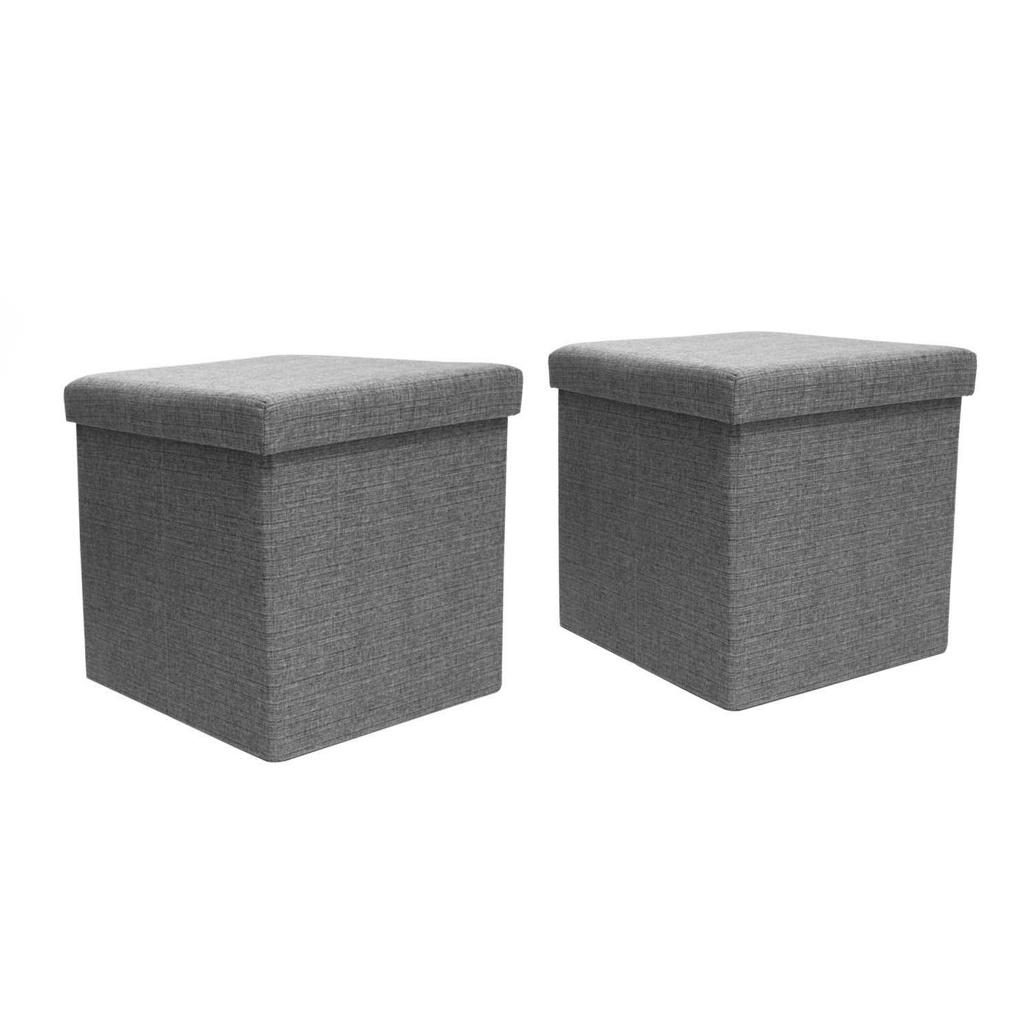 Cool Amazon Com 51 31 Fhe Group Folding Storage Ottomans With Alphanode Cool Chair Designs And Ideas Alphanodeonline