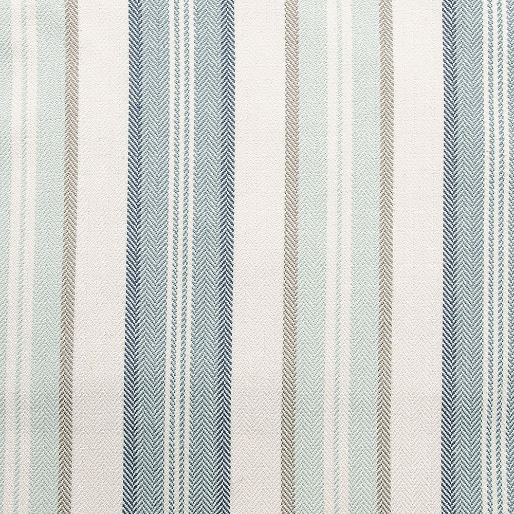 Spa Blue and Green Stripe Upholstery Drapery fabric