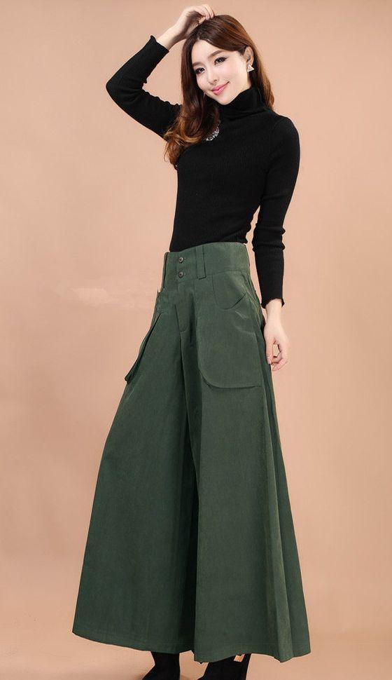 bc6f91a976 Aliexpress.com   Buy 1Pcs Skirt Pants Falda Pantalon 2015 New Brand Design  Wide Leg