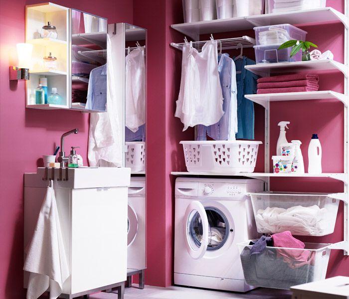 Mobel Einrichtungsideen Fur Dein Zuhause Projeto Da Lavanderia Ikea Algot Lavandaria Ikea