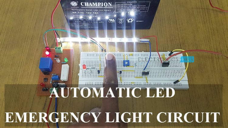 Automatic Led Emergency Light Circuit Diagram Using Ldr In 2020 Led Emergency Lights Emergency Lighting Emergency