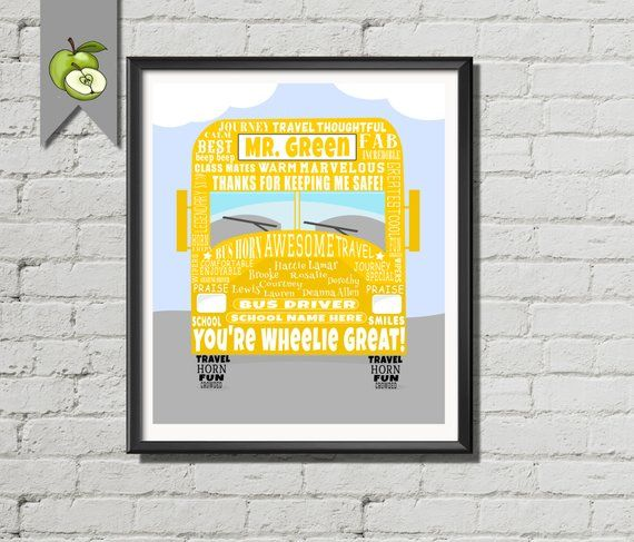 Bus driver Appreciation gift Personalised Thank you