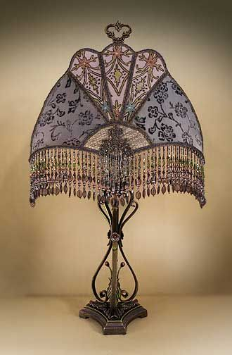 1920 S Table Lamp Shade Victorian Lampshades Beaded Lamps Victorian Lamps