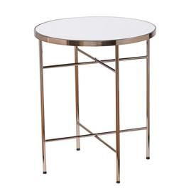 Boston Loft Furnishings Jerriman Mirrored Round End Table Atg2109