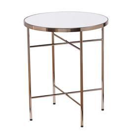 Boston Loft Furnishings Jerriman Mirrored Round End Table Atg2109