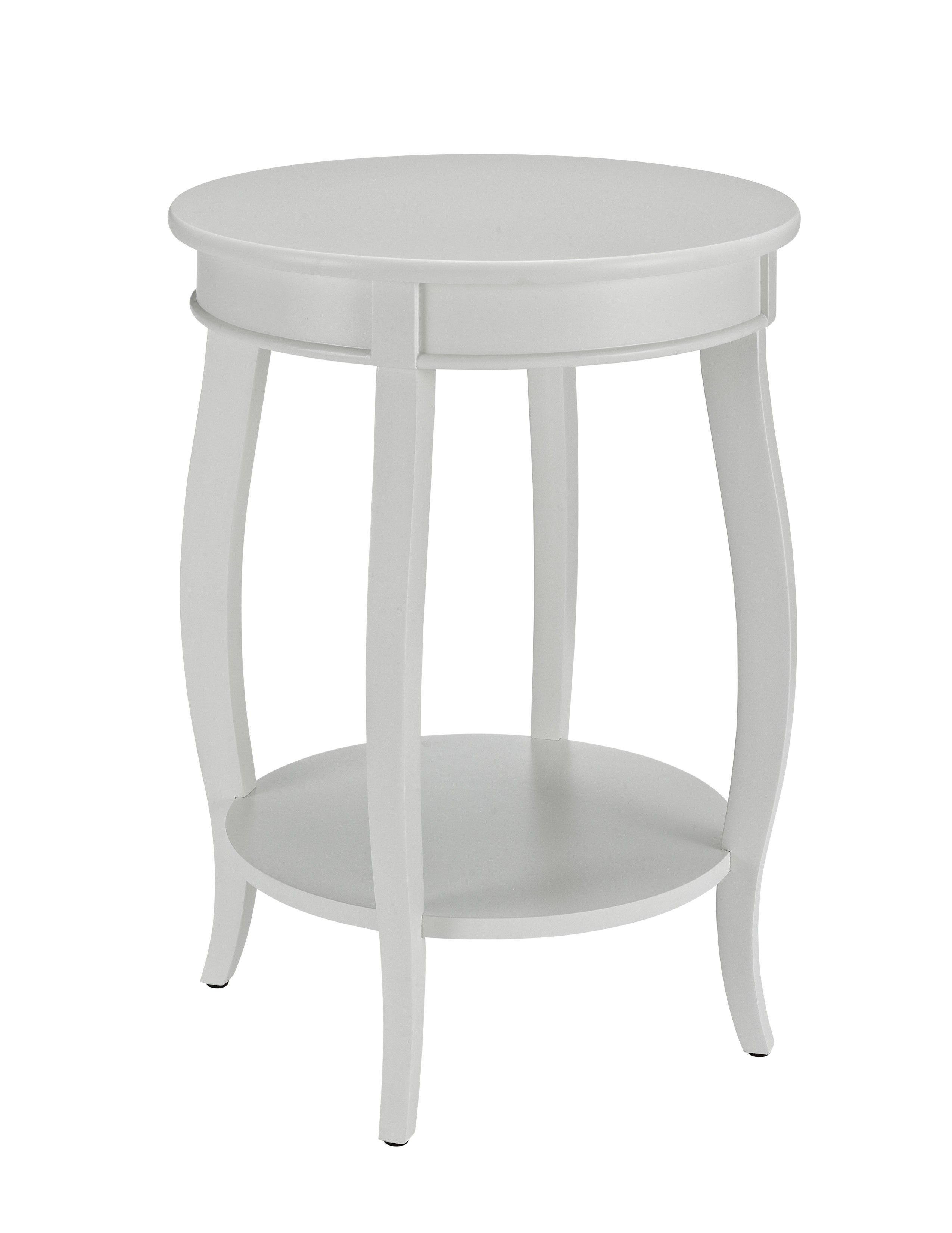 White Round Pedestal Side Table Round Side Table End Tables Side Table