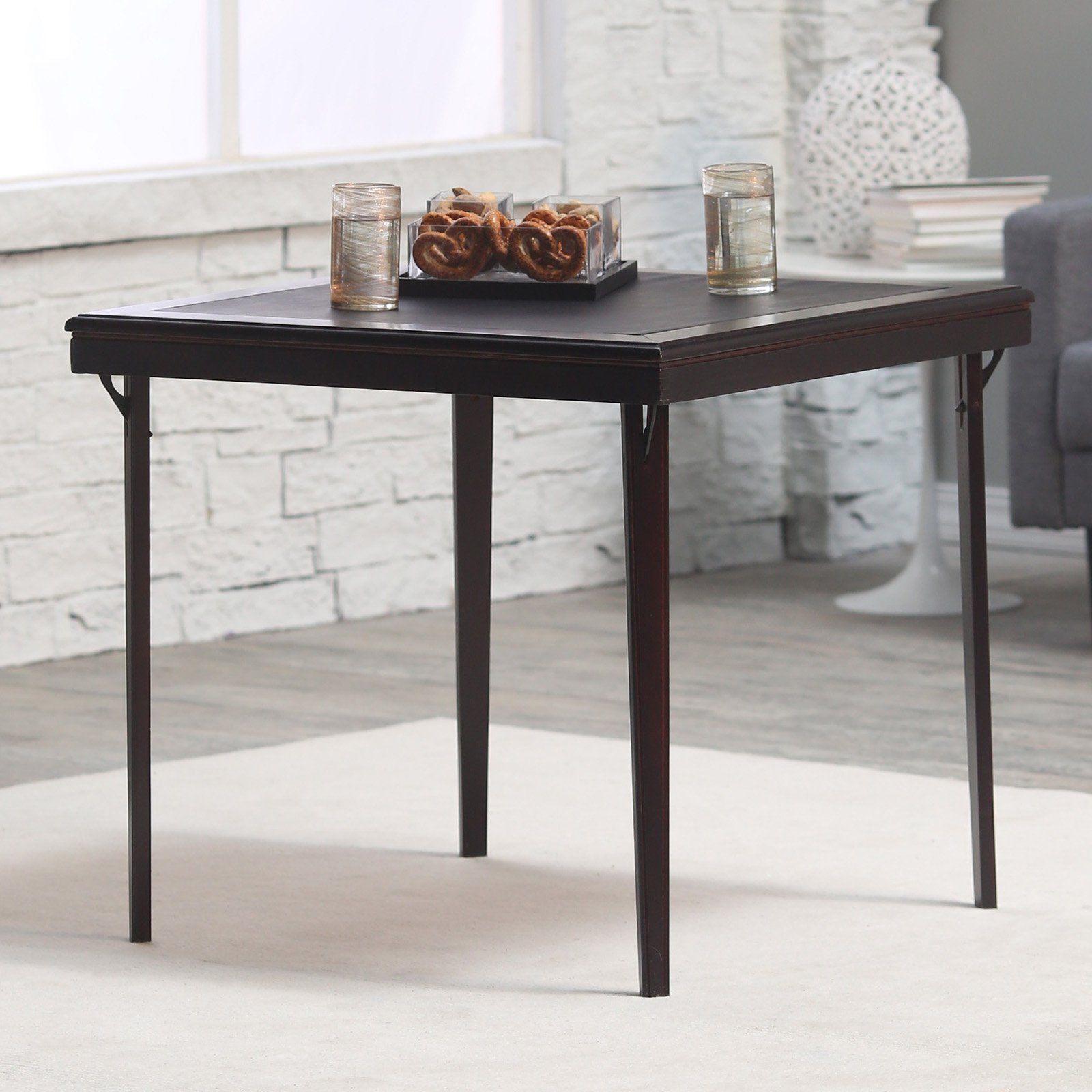 Square Premium Wood Folding Card Table 14260espe