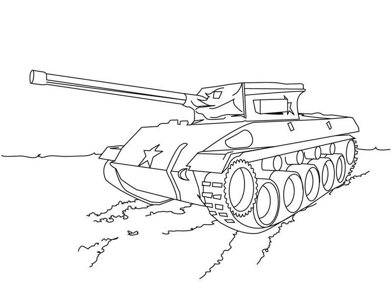 army coloring pages - Army Tank Coloring Pages Print
