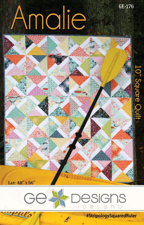 "Amalie 10"" Square Pattern"