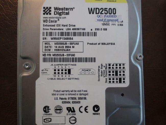 WD WD2500JB-00FUA0 DCM:HSBHCVJAH 250gb IDE/ATA (Donor for
