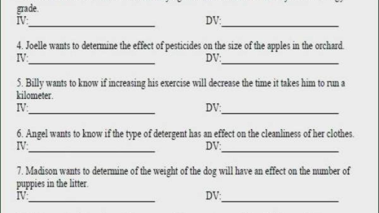 36 Stunning Independent And Dependent Variables Worksheet For You Https Bacamajalah Com 36 Stunning Independent And Depende Variables Worksheets Dependable