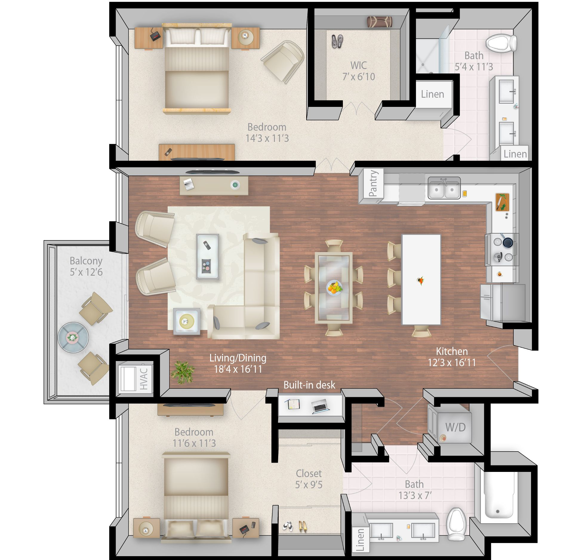 Blueprint For A Nice Apartment - 8mx12m Approx