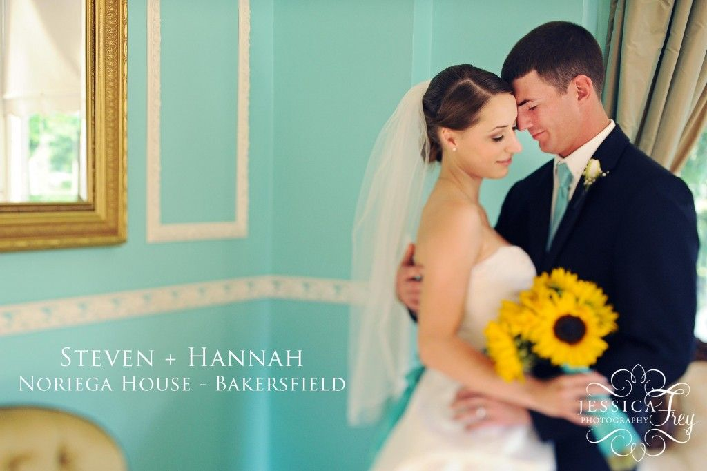 Blue and sunflowers - Steven and Hannah shot by Jessica Frey