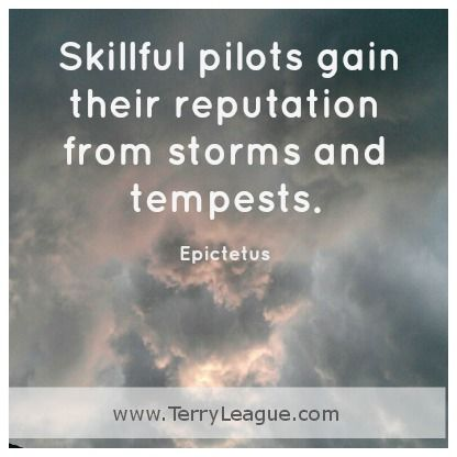 Skillful pilots gain their reputation from storms and tempests. #quotes