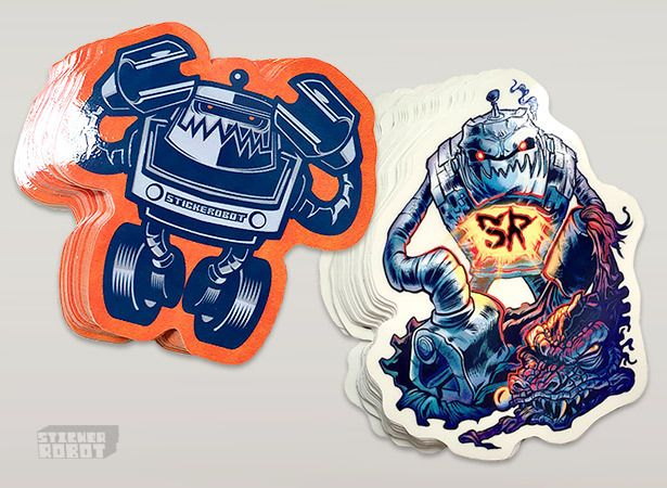Custom sticker robot sticker packs featuring skinner travis millard hydro74